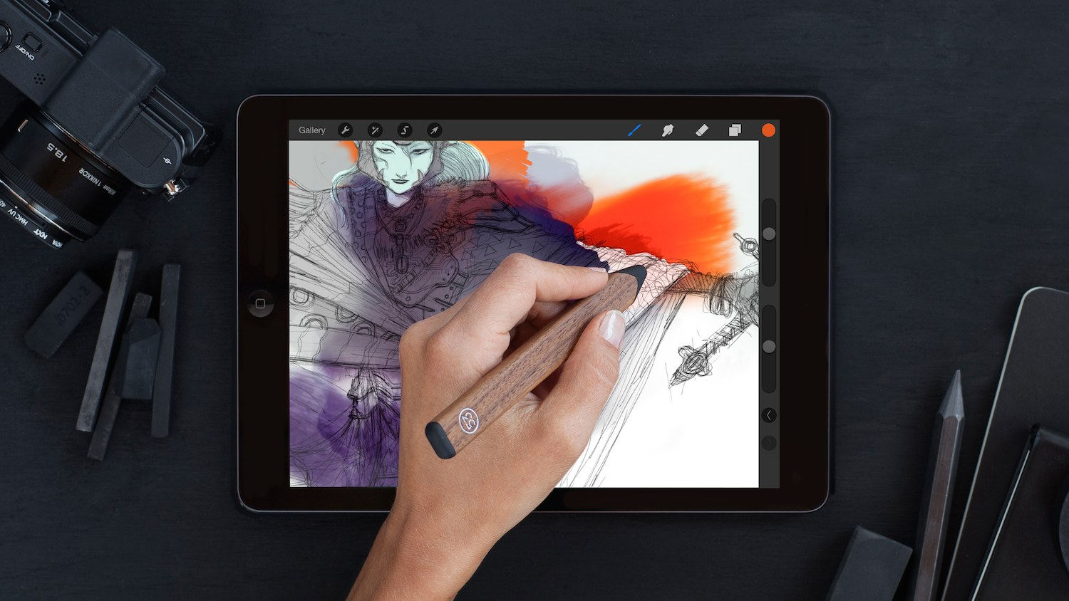 The FiftyThree SDK has been implemented by Procreate, allowing it to fully support the Pencil Stylus
