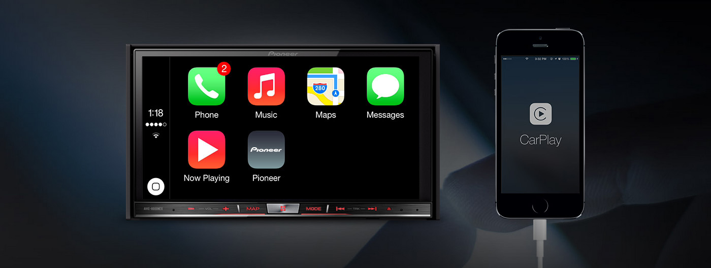 firmware update brings carplay to selected pioneer. Black Bedroom Furniture Sets. Home Design Ideas