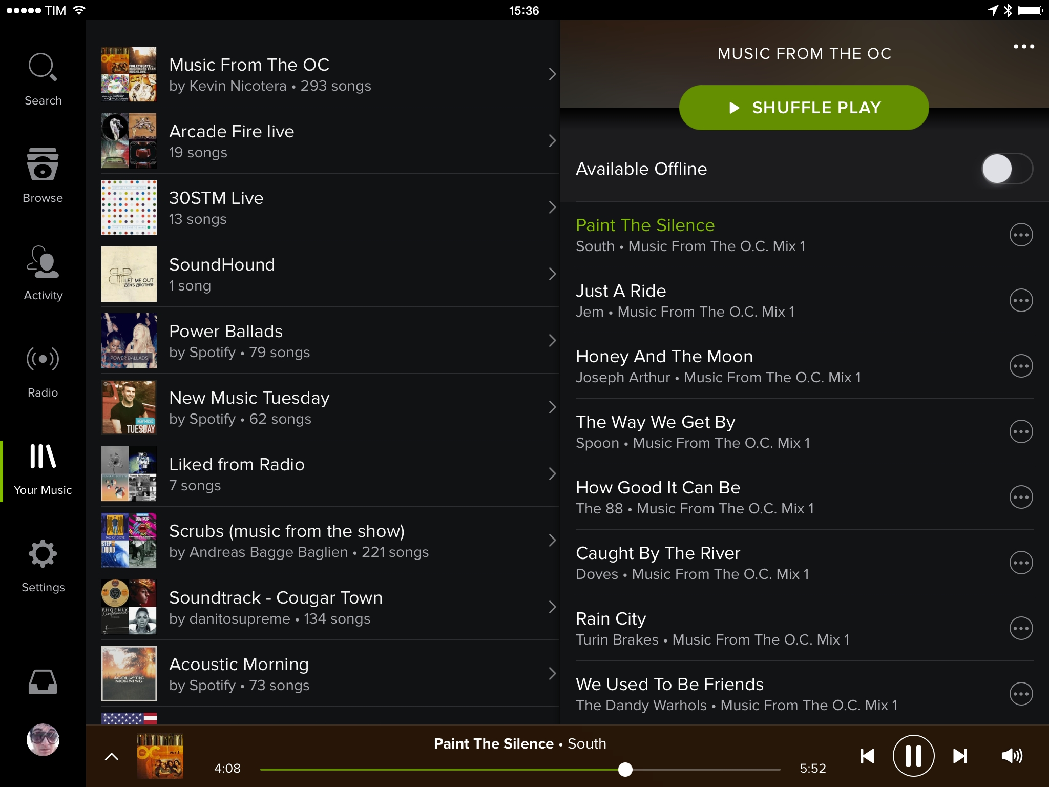 spotify brings new design your music to ipad app macstories